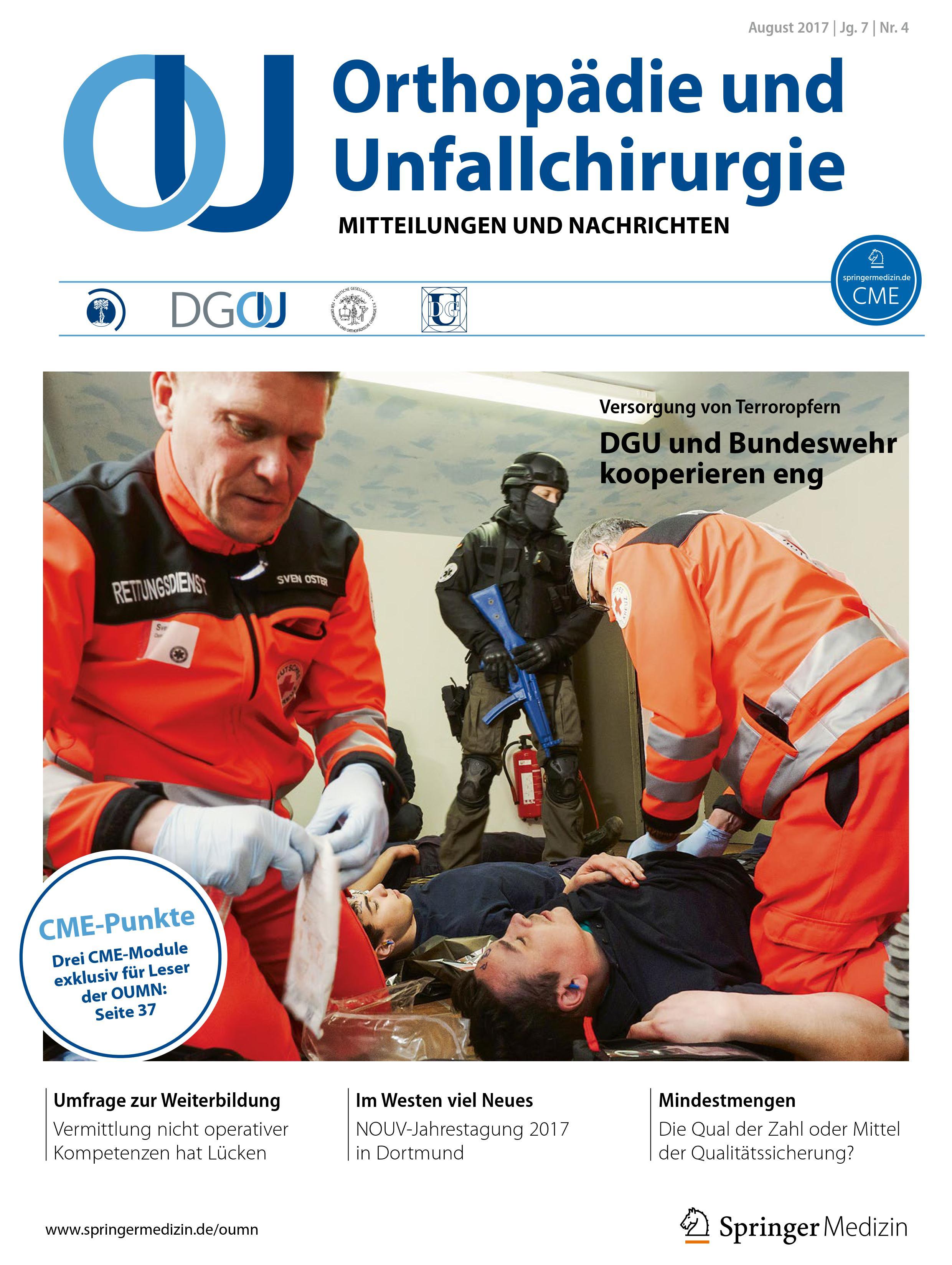 Orthopädie und Unfallchirurgie - Mitteilungen und Nachrichten (OUMN) 4/17