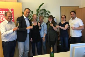 Team BVOU nach der ISO 9001-Zertifizierung 2017